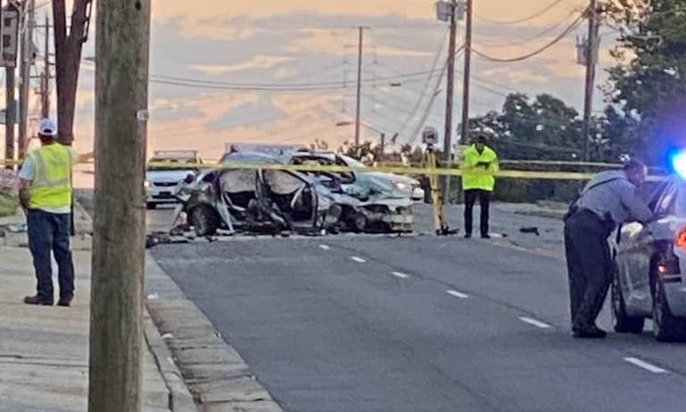 Cuatro lesionados durante persecución en South Boulevard