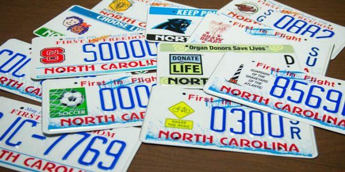 Suspendida sustitución de matrículas viejas en Carolina del Norte