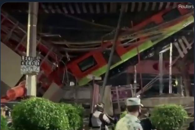 Al menos 23 muertos al caer metro desde puente en Ciudad de México