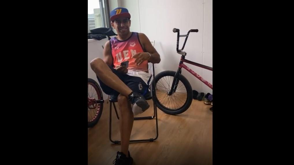 ¡Apareció la bicicleta! de BMX de atleta venezolano en Tokio