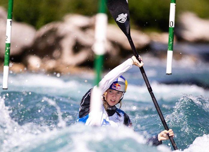 Evy Leibfarth rozó la final en el eslalon de canoa en Tokio