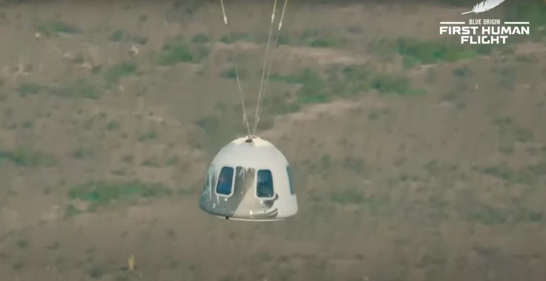 Jeff Bezos y 3 tripulantes viajan con éxito al espacio