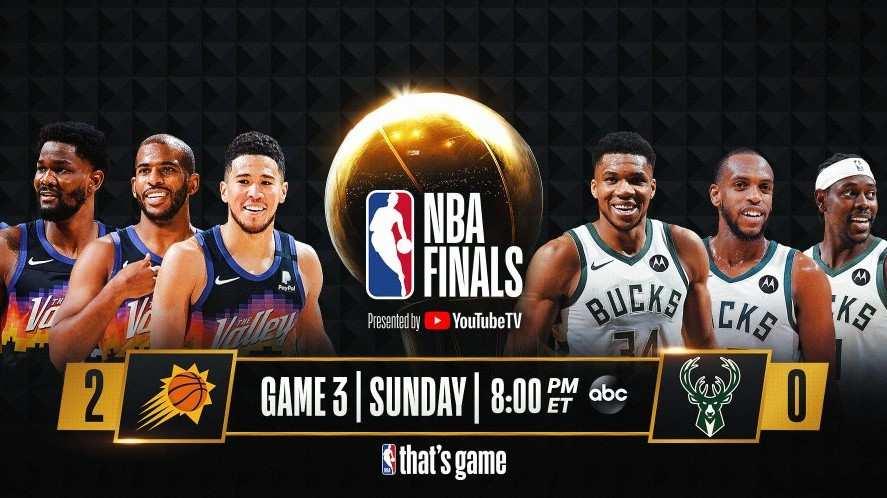 Los Suns vencieron a Bucks, 2-0 en las Finales de la NBA