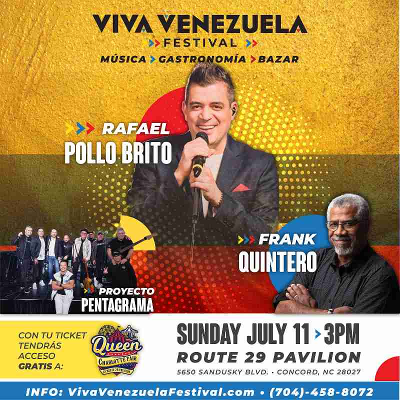 """Viva Venezuela Festival trae a Frank Quintero y al """"Pollo"""" Brito a Charlotte"""