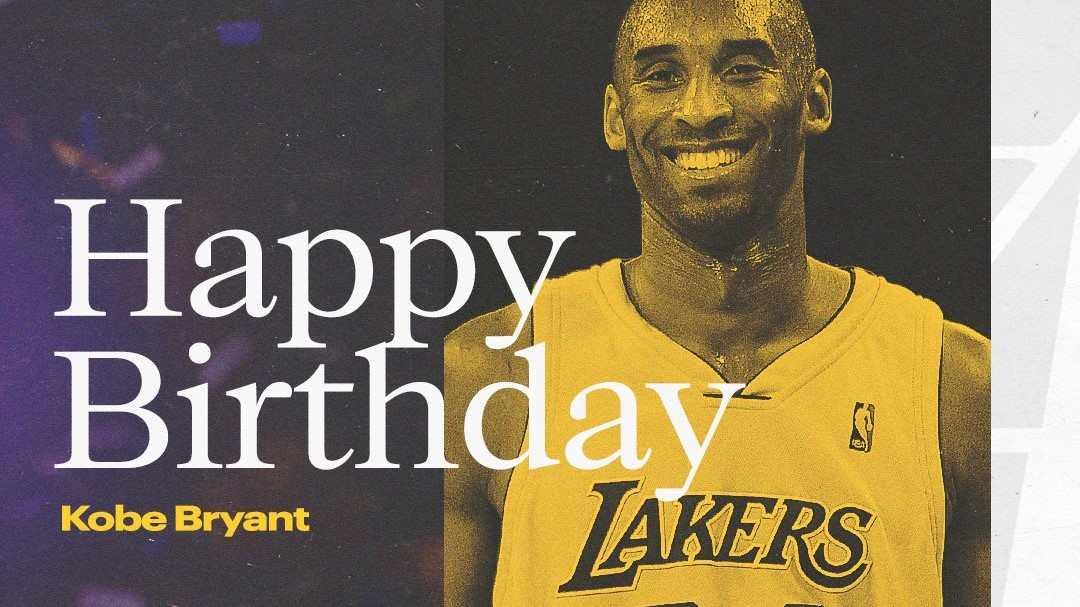 Conmemoración del cumpleaños 43 de Kobe Bryant