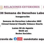 Consulado de México invita participar semana de derechos laborales