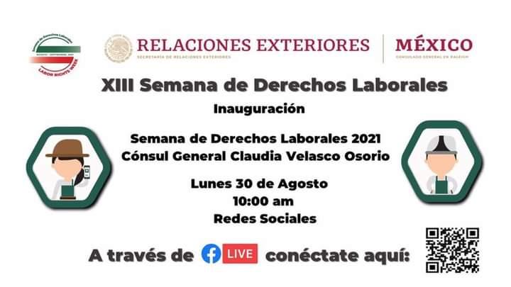 Consulado de México invita a participar semana de derechos laborales