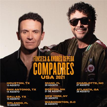 El Compadres Tour, Fonseca y Andrés Cepeda en Charlotte