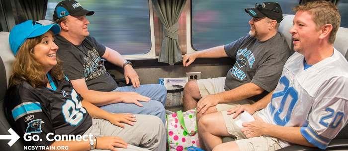 En tren a los juegos de Carolina Panthers