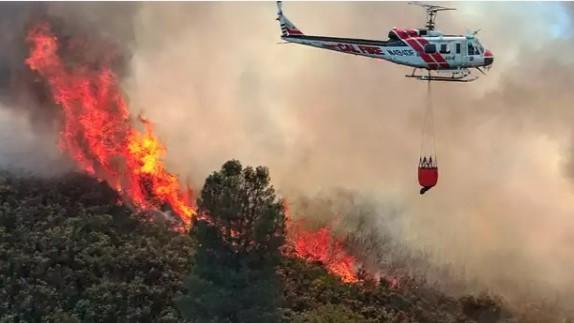 Greenville arrasado por el incendio Dixie