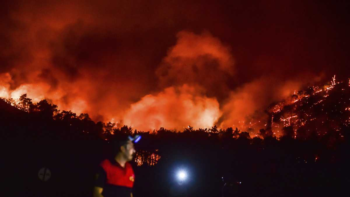 Incendios forestales devastan el Mediterráneo