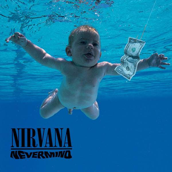 Portada disco Nirvana-Nevermind