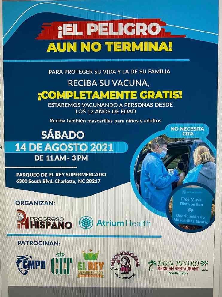 Progreso Hispano News y Atrium Health se unen para una nueva jornada de vacunación