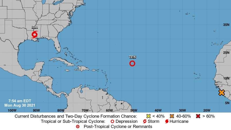 Tormenta tropical Ida sigue moviéndose al norte de EE-compressed