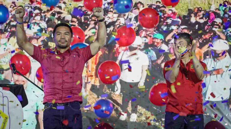 Manny Pacquiao oficialmente es candidato presidencial de Filipinas