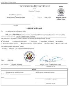 Orden de arresto del FBI contra Brian Laundrie