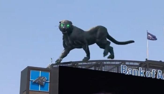 Una impresionante pantera virtual tomó el Bank of America Stadium