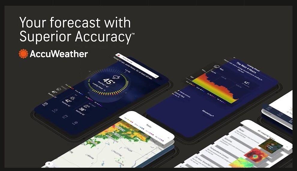 AccuWeather extiende al resto de América app de pronósticos de lluvia