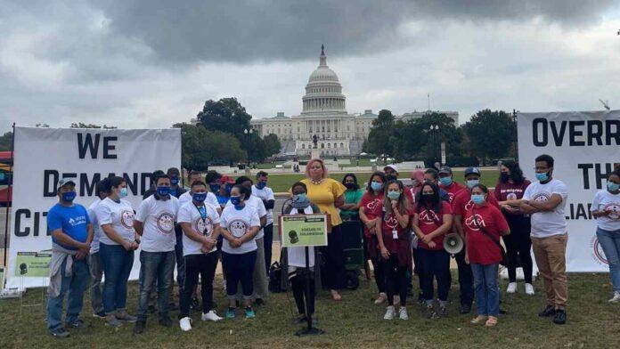 Manifiestan frente al Congreso de EE. UU. para regularizar TPS